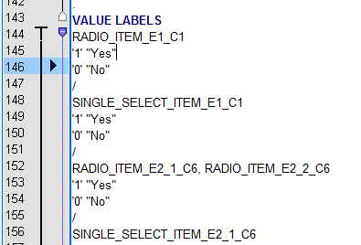 how to find value labels in spss
